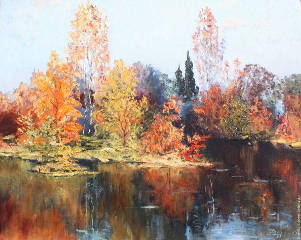 Oil Painting Landscape Autumn Canvas Impressionism