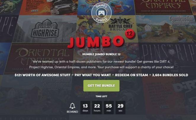 HUMBLE JUMBO BUNDLE 12 Steam, Humble Bundle, Длиннопост