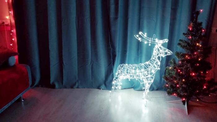 Новогодний олень из проволоки своими руками Новый Год, Олени, Длиннопост, Своими руками, Декор