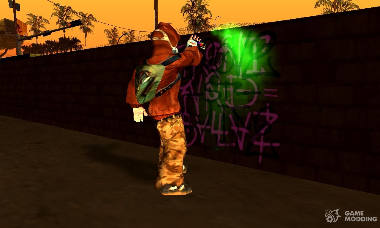 Graffiti Tagger from THUG2 for GTA San Andreas