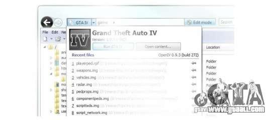 OpenIV 0.9.3 for GTA 4
