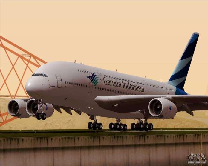 Airbus A380 800 Garuda Indonesia For Gta San Andreas