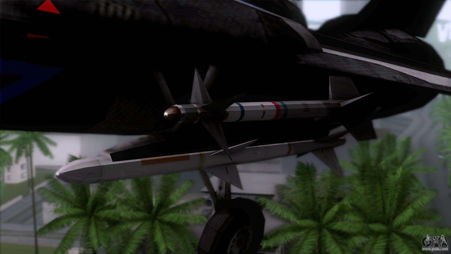 F-14 Neon Blue Macross Frontier for GTA San Andreas