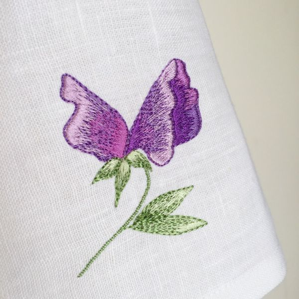 sweet pea embroidery # 38