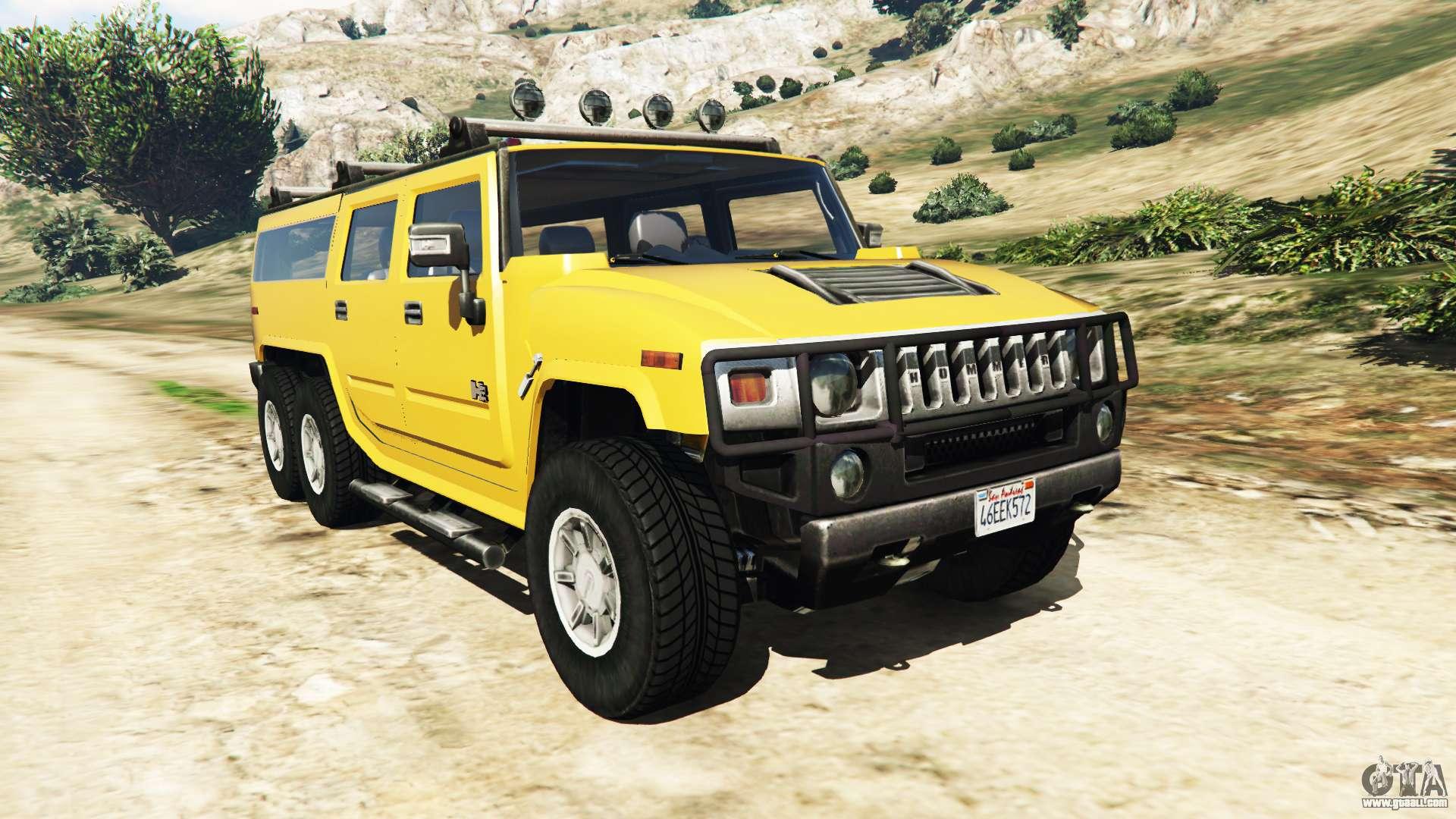 Hummer H2 6x6 v2 0 for GTA 5