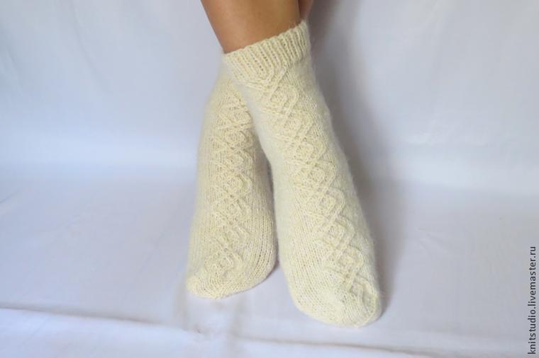 Вяжем шерстяные носки на 5 спицах, фото № 11