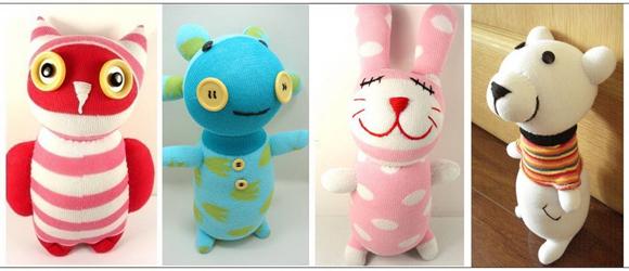 Забавные мягкие игрушки из носков, фото № 31