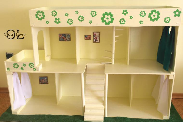 Делаем красивый дом и мебель для кукол Барби, фото № 7