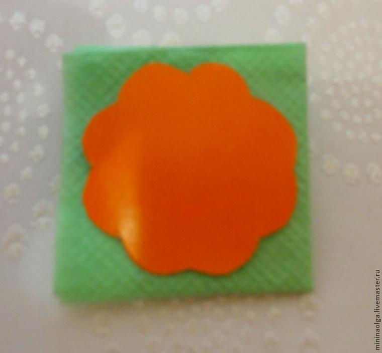 Árbol de Navidad de servilletas de papel, hágalo usted mismo, foto № 6