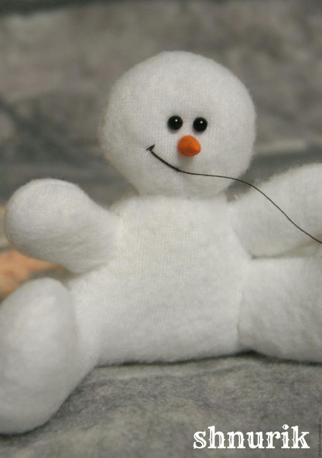 Снеговик в шапочке. Мастер-класс., фото № 17