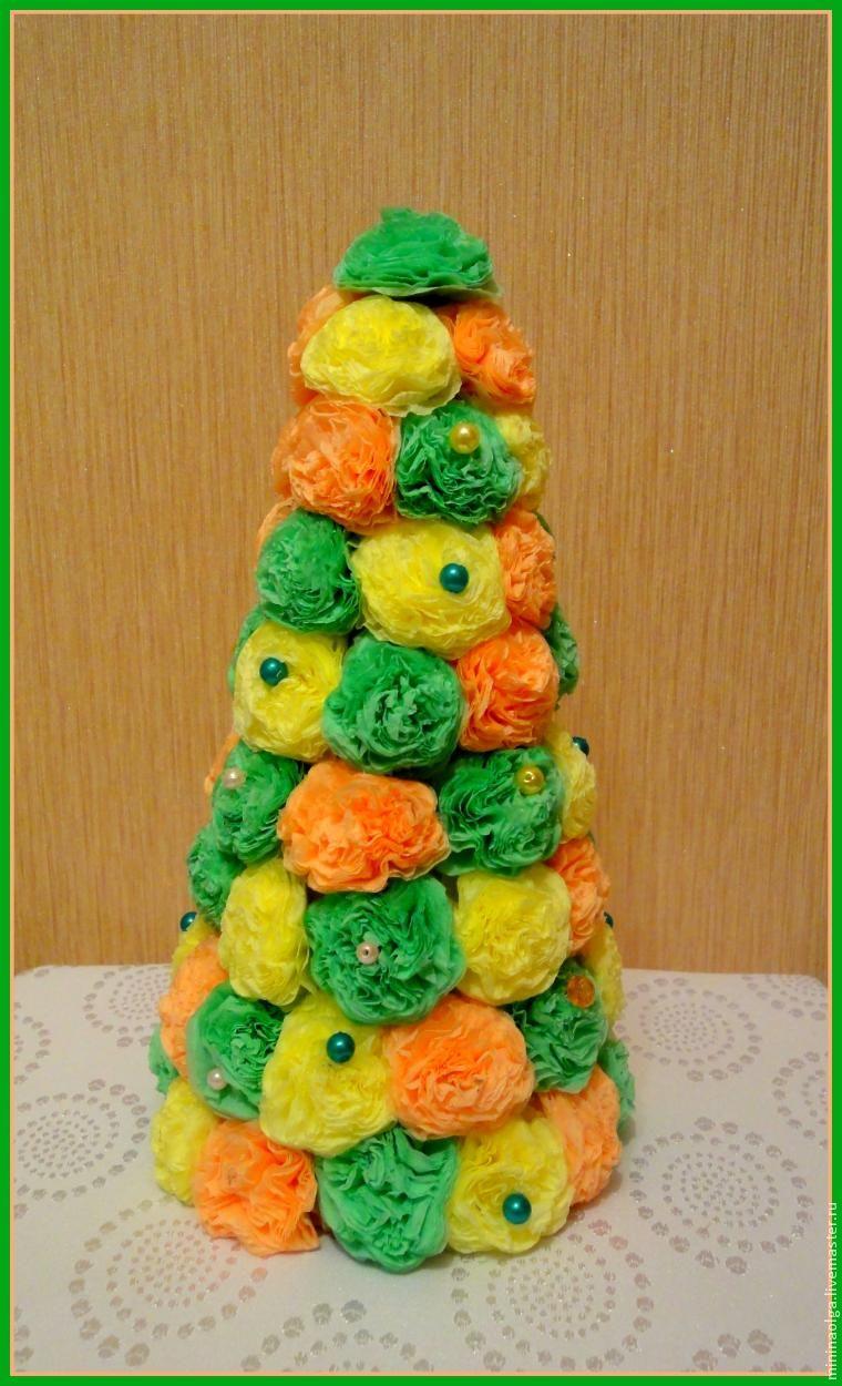 Pomul de Crăciun de Anul Nou din șervețele de hârtie cu mâinile tale, Foto № 21