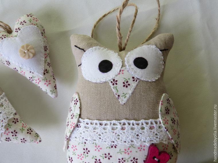 We sew a naughty owl on a branch, photo № 42