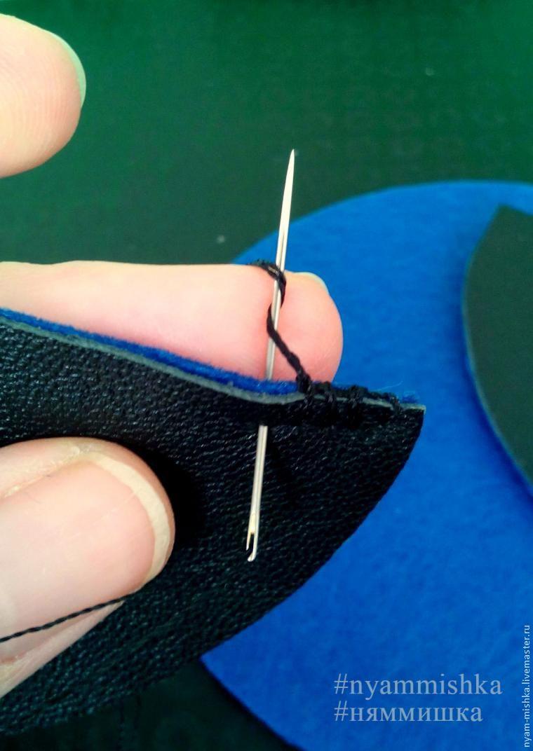 Шьем чехол для наушников из кожи и фетра