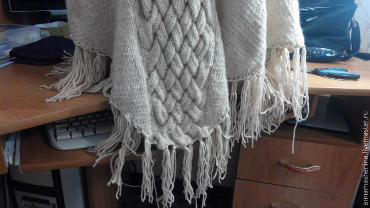 Comment tricoter Poncho triangulaire avec gorge, photo № 1