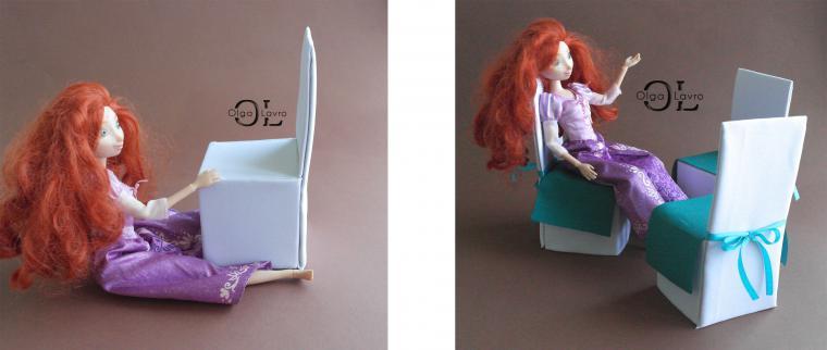 Делаем красивый дом и мебель для кукол Барби, фото № 21