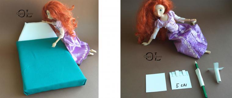 Делаем красивый дом и мебель для кукол Барби, фото № 17