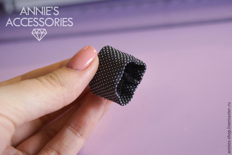 Hogyan kell varrni egy csokornyakkendő 10 egyszerű lépést, Photo № 11