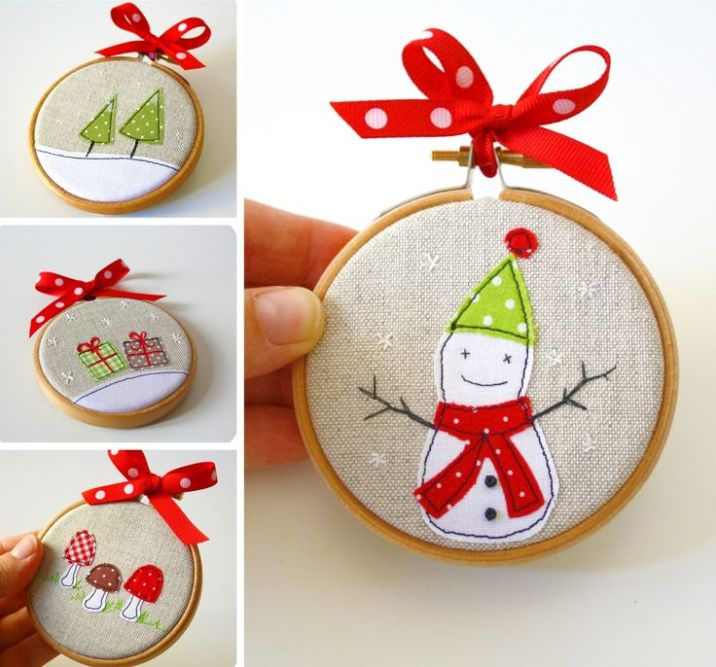 handmade gifts ideas stocking and tree hangings