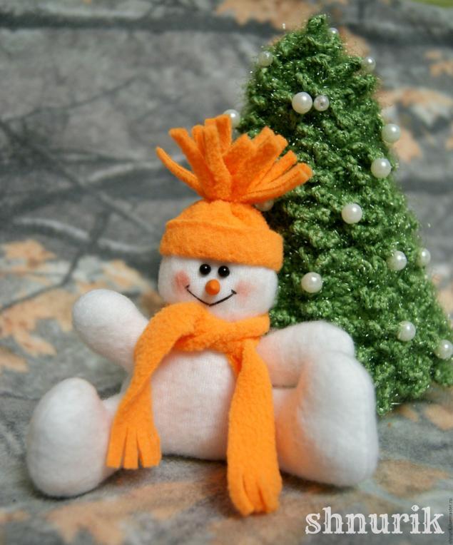 Снеговик в шапочке. Мастер-класс., фото № 28