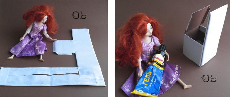 Делаем красивый дом и мебель для кукол Барби, фото № 20