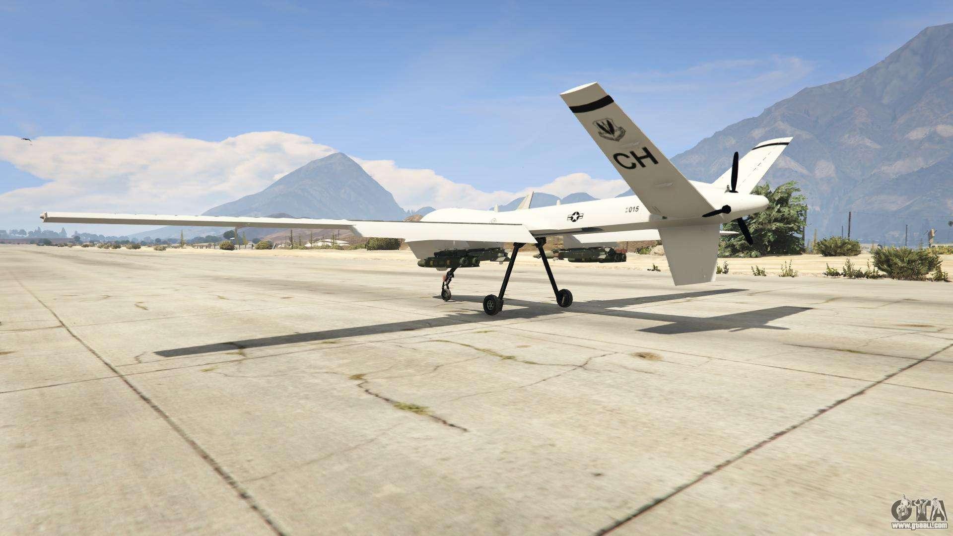 MQ-9 Reaper UAV 1.1 for GTA 5
