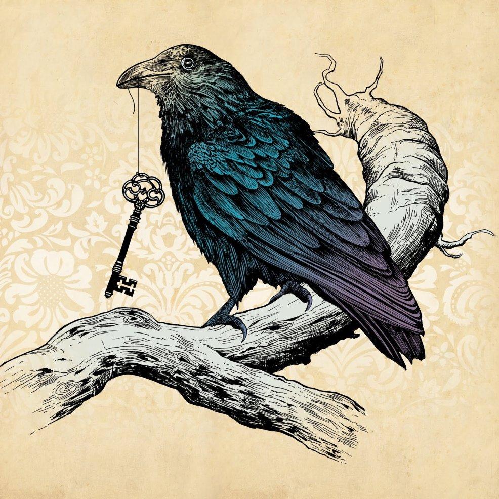 идеи для эскизов татуировки ворон 2