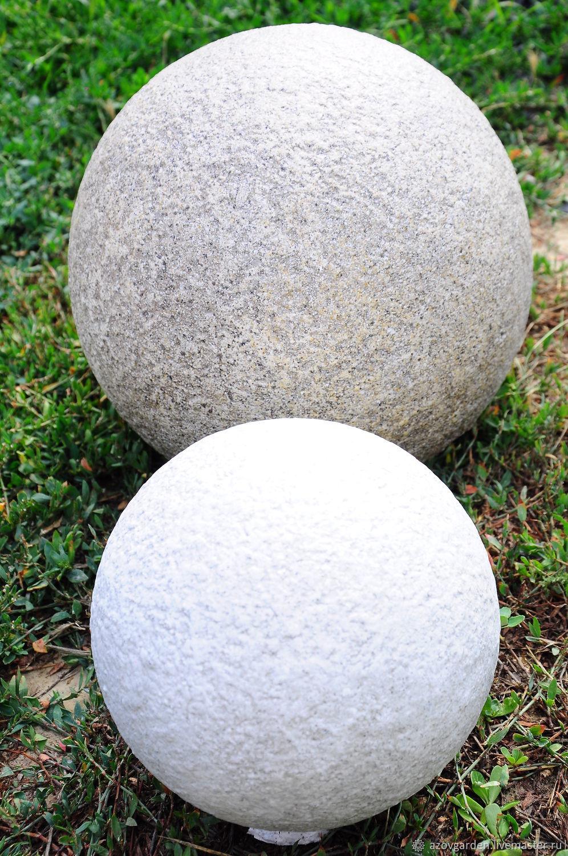 ball concrete garden finial