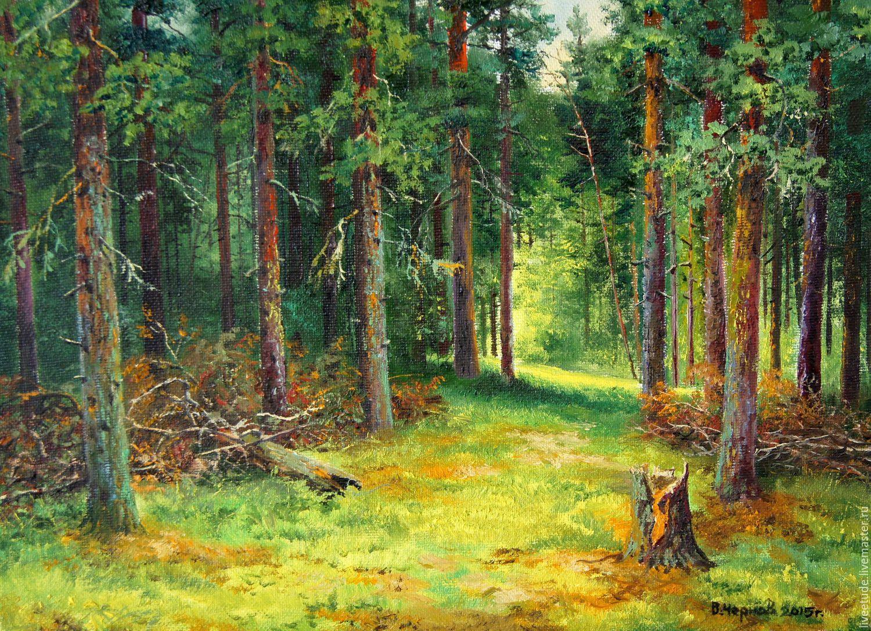 oil painting peisaj in