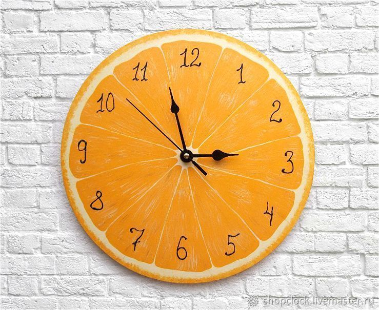 kitchen clocks braun appliances orange wall clock shop online on livemaster with handmade buy