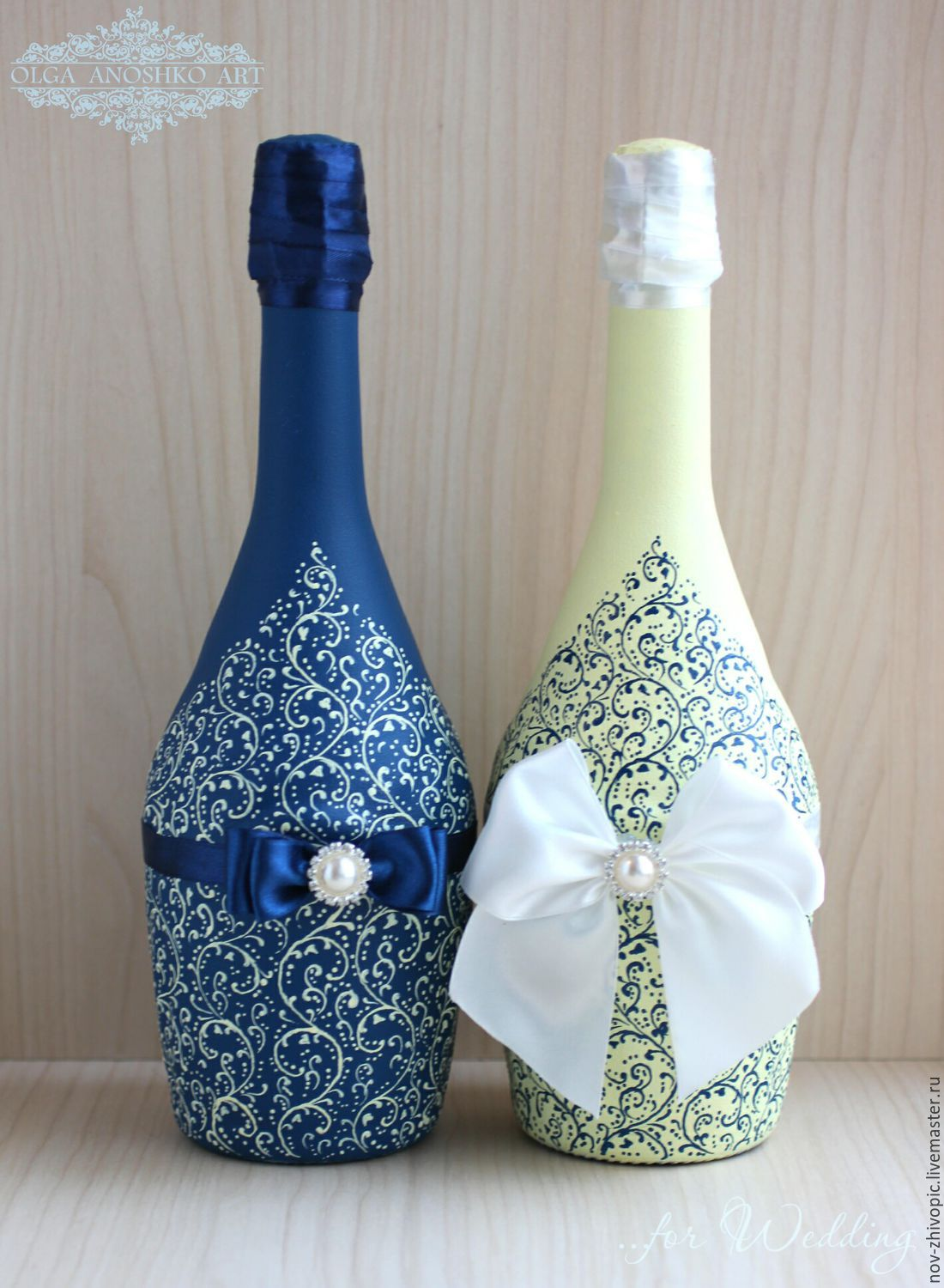 Wedding decor bottles Beautiful Couple Painting  shop online on Livemaster with shipping