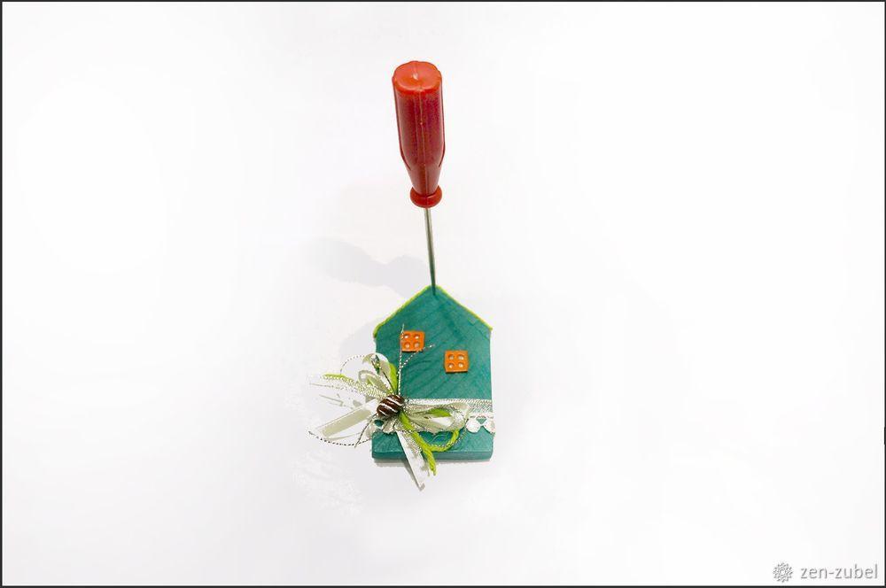 Создаём новогодние игрушки-подвески «Домики», фото № 45