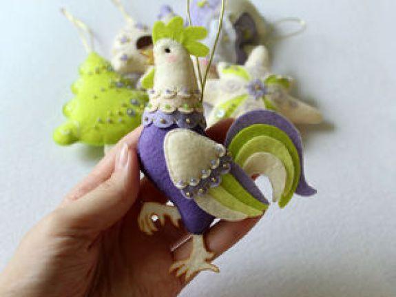 Costurar galo bonito de feltro | Mestres justas - artesanal, feito à mão
