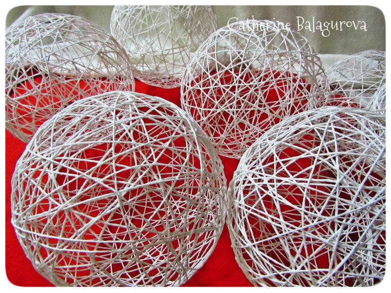 Как сделать шары из ниток и клея ПВА своими руками, фото № 13