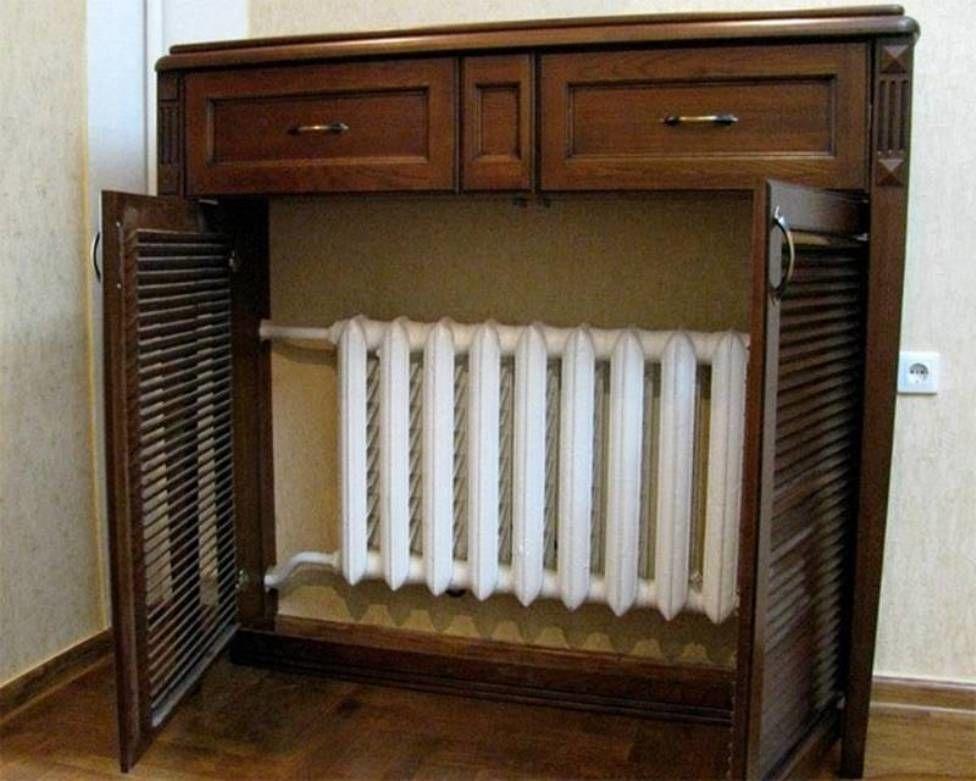 """45 Isıtma pillerini dekore etmek ya da evde ısıtma radyatörlerini nasıl """"kıkırdayacağı"""", evinde, Cornly gözler, fotoğraf № 19"""