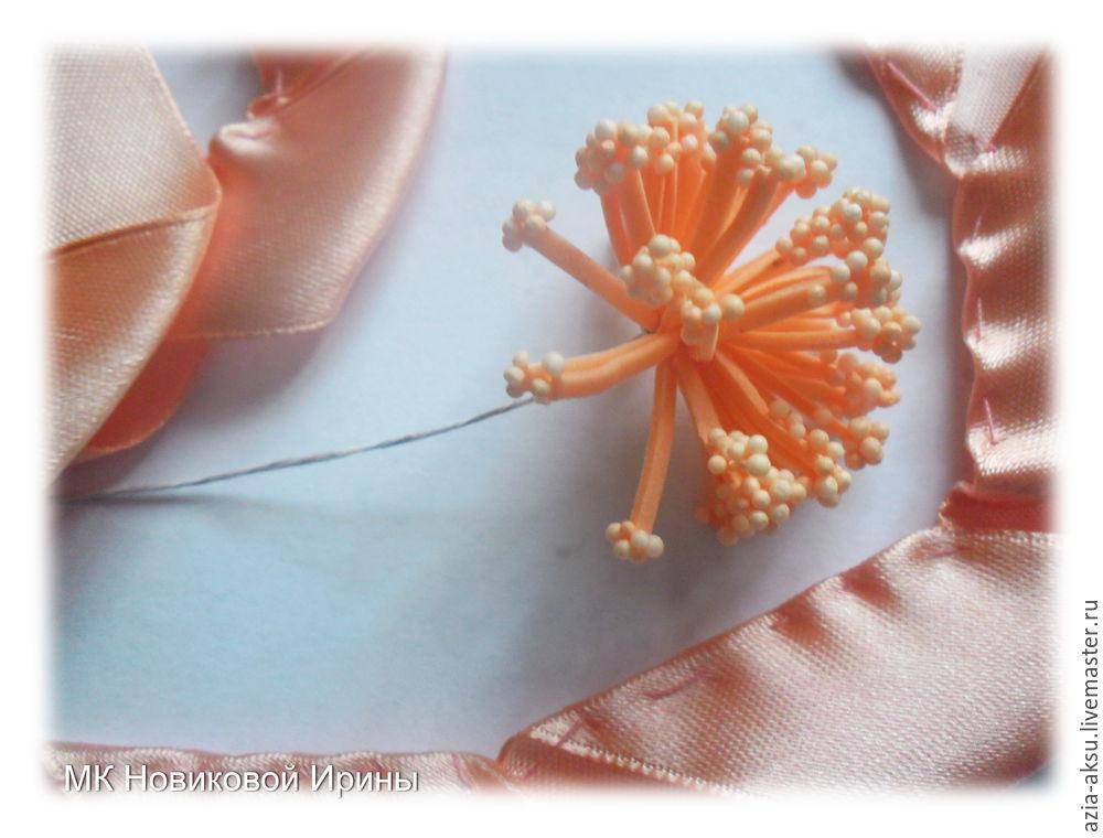 우리는 새틴 리본에서 간단한 장미를 만듭니다, 사진 № 8