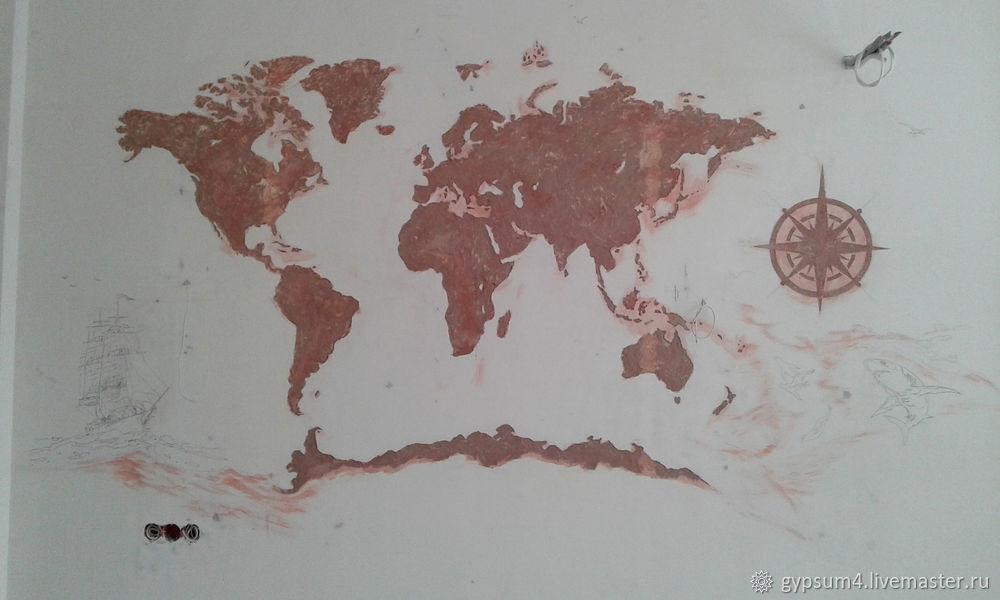 Изготавливаем барельеф «Карта», фото № 5