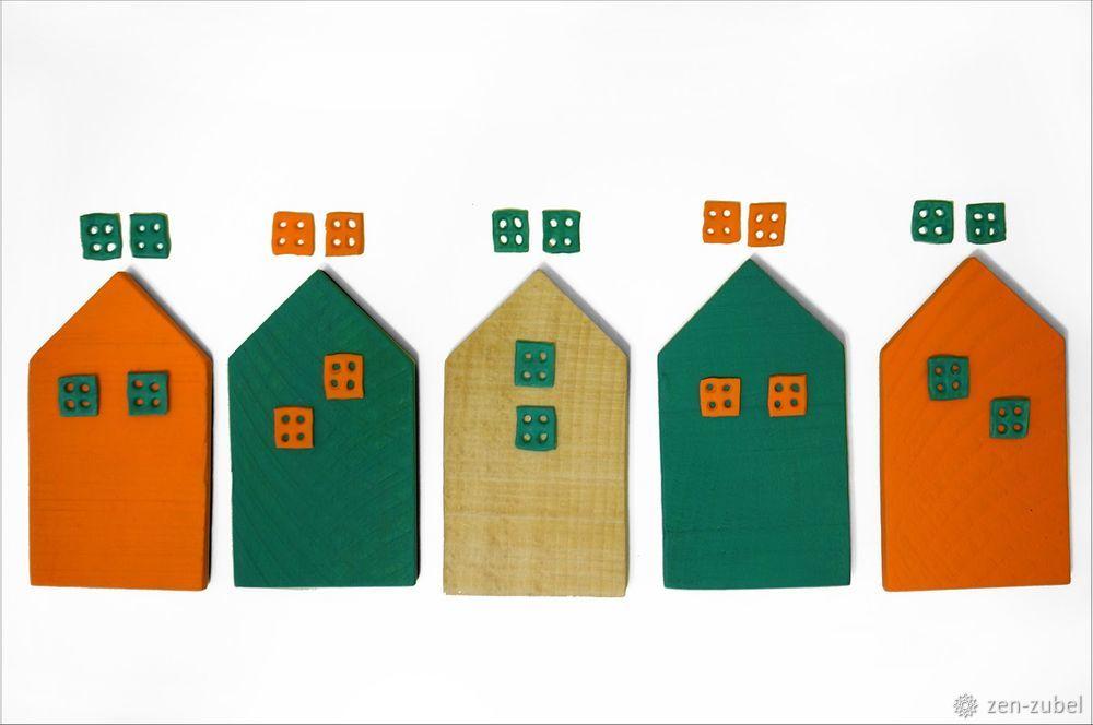 Создаём новогодние игрушки-подвески «Домики», фото № 21