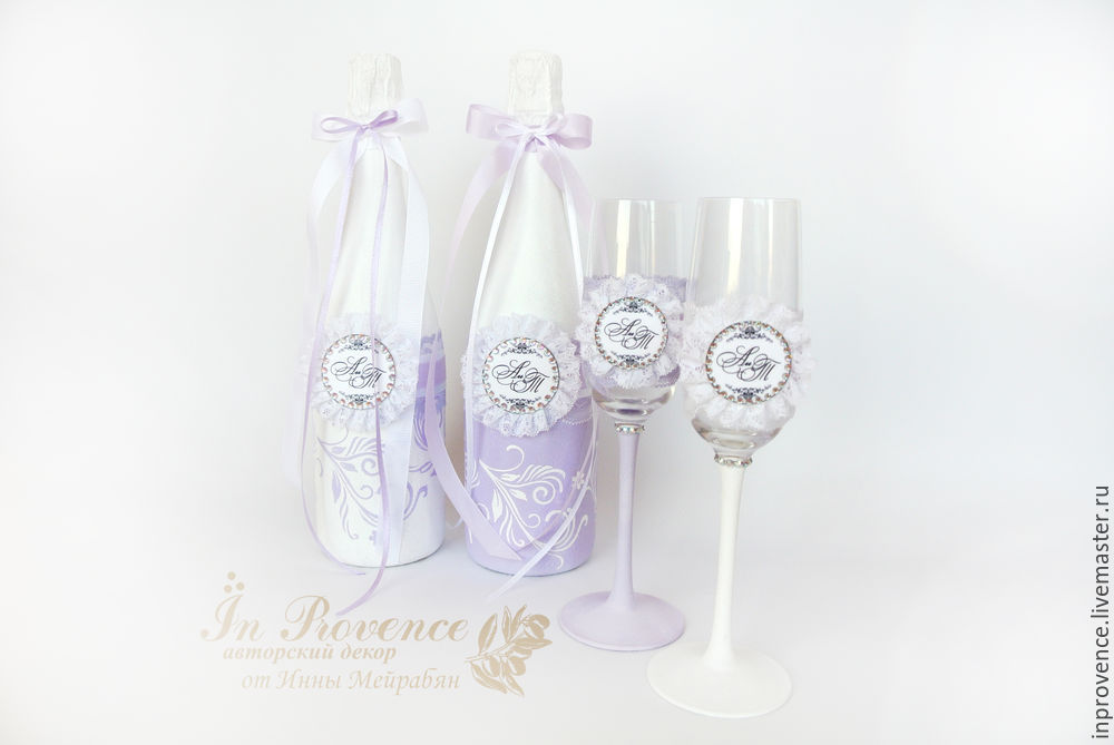 Esküvői fellendülés folytatódik. Esküvői pezsgő dekorációja. 1. rész, 30. képszám