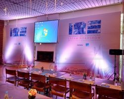 Painel Backdrop Comstor Restaurante Figueira Rubayat