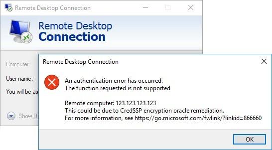 Ошибка при подключении по RDP (CreedSSP encryption oracle remediation) CredSSP, марс телеком, виртуальный сервер, rdp, ошибка rdp, vps, MS Windows Server, обновление 8 мая 2018, длиннопост