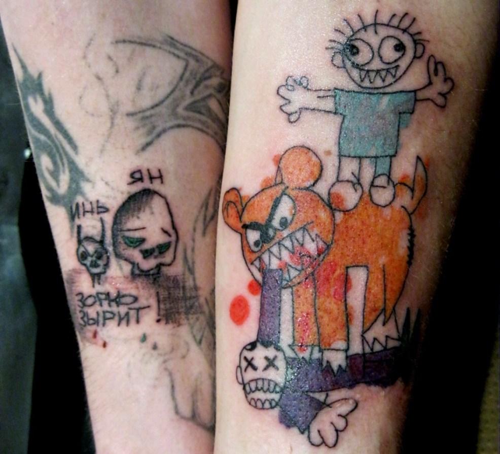 татуировки за которые мамка не просто заругает а сдаст в детдом