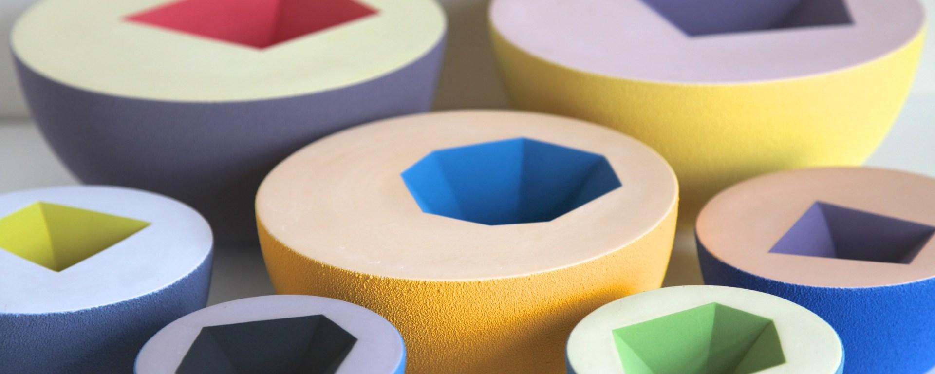 Sophie Southgate's geometric ceramic vessels