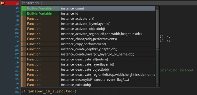 GMS2 Code Editor AutoSuggest