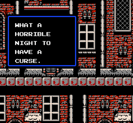 What a horrible night to have a curse.