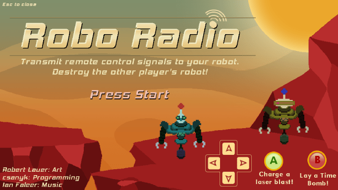 Robo Radio title screen
