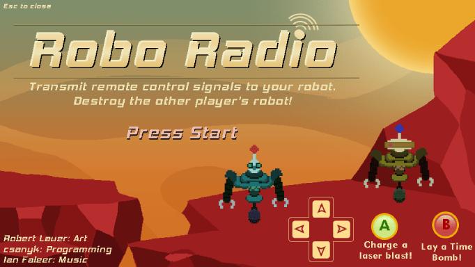 Robo Radio title screen