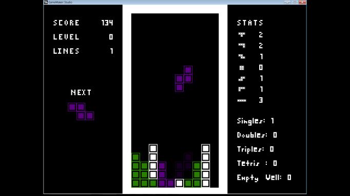 GML Tetris, a GameMaker Demo project - csanyk com