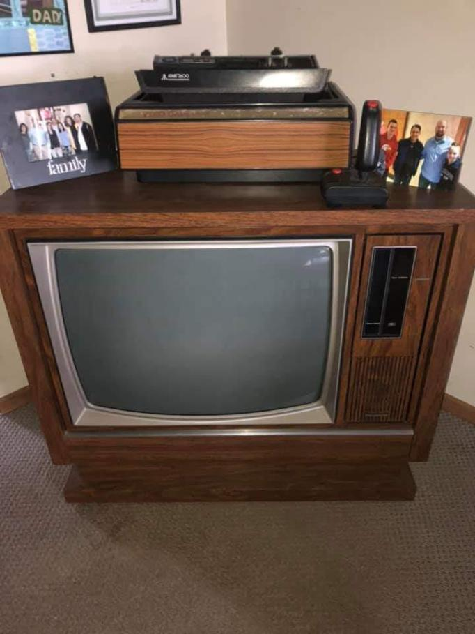 Posted to one of the gaming communities I follow on Facebook, just before my day at the Open World Arcade began: an old TV set with Atari 2600 system connected to it.  Suddenly I felt connected to millions of people who grew up with this experience.