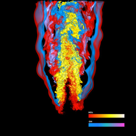 simulation of a flame