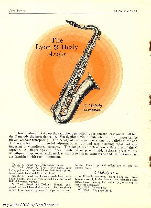 Lyon & Healy C-melody saxophone